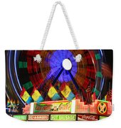Vacant Carnival Bench Weekender Tote Bag