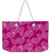 Valentine Hearts Pattern Weekender Tote Bag