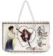 Valentines Day Card, 1909 Weekender Tote Bag