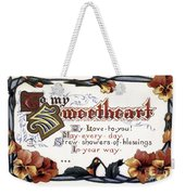 Valentines Day Card, 1910 Weekender Tote Bag