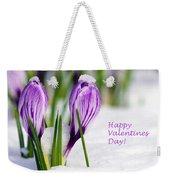 Valentines Day Crocuses Weekender Tote Bag