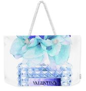 Valentino Blue Perfume Weekender Tote Bag