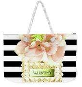 Valentino Perfume With Flower Weekender Tote Bag