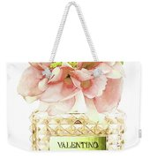 Valentino With Peony Weekender Tote Bag