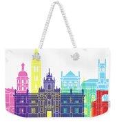 Valladolid Skyline Pop Weekender Tote Bag