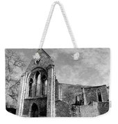 Valle Crucis Abbey Monochrome Weekender Tote Bag