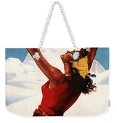 Vallee D'aoste - Aosta Valley, Italy - Retro Travel Poster - Vintage Poster Weekender Tote Bag