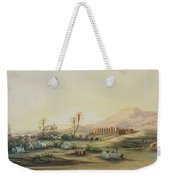 Valley Of The Nile With The Ruins Of The Temple Of Seti I Weekender Tote Bag by Prosper Georges Antoine Marilhat