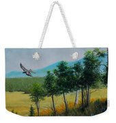 Valley View From Up The Hill Weekender Tote Bag