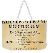 Vampire Book, 1679 Weekender Tote Bag