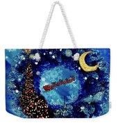 Van Gogh's Starry Night Wreath Weekender Tote Bag