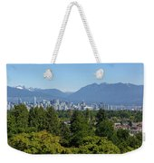 Vancouver Bc City Skyline From Queen Elizabeth Park Weekender Tote Bag