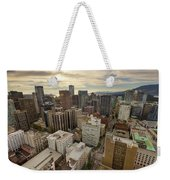 Vancouver Bc Cityscape Aerial View Weekender Tote Bag