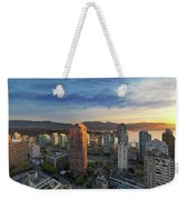 Vancouver Bc Cityscape At Sunset Weekender Tote Bag