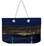 Vancouver Bc Cityscape By Lions Gate Bridge Weekender Tote Bag