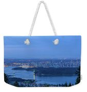 Vancouver Bc Cityscape During Blue Hour Dawn Weekender Tote Bag