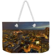 Vancouver Bc Cityscape During Evening Twilight Weekender Tote Bag