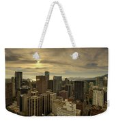Vancouver Bc Cityscape During Sunset Weekender Tote Bag