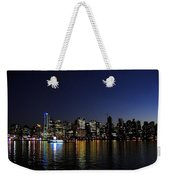 Vancouver Night Lights Weekender Tote Bag