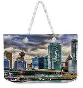 Vancouver Skyline Hdr Weekender Tote Bag
