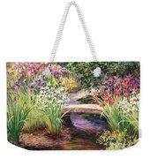 Vandusen Garden Iris Bridge Weekender Tote Bag