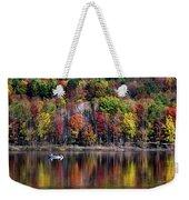 Vanishing Autumn Reflection Landscape Weekender Tote Bag