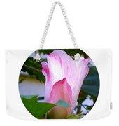 Variegated Hibiscus Flower In Circle Weekender Tote Bag