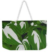 Variegated Hostas Weekender Tote Bag