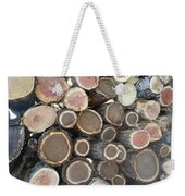 Various Firewood In The Round Weekender Tote Bag