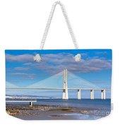 Vasco Da Gama Bridge Weekender Tote Bag