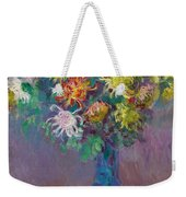 Vase Of Chrysanthemums Weekender Tote Bag