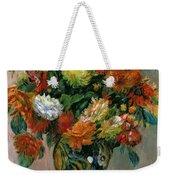 Vase Of Flowers Weekender Tote Bag by Pierre Auguste Renoir