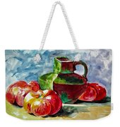 Vase With Tomatoes Weekender Tote Bag