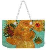 Vase With Twelve Sunflowers Weekender Tote Bag