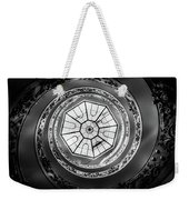 Vatican Staircase Looking Up Black And White Weekender Tote Bag