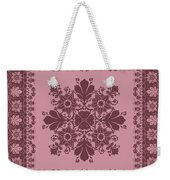 Vector Abstract Ethnic Shawl Floral Pattern Design For Backgroun Weekender Tote Bag