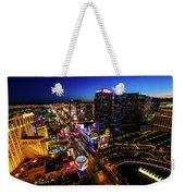 Vegas At Dusk Weekender Tote Bag