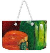 Vegetable Still Life Green And Orange Pepper Grace Venditti Montreal Art Weekender Tote Bag