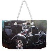 Vehicle- Black Hot Rod  Weekender Tote Bag
