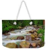 Velvet Green Forest Weekender Tote Bag