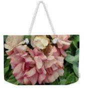Velvet In Pink And Green Weekender Tote Bag
