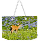 Velvet On Lupine Weekender Tote Bag