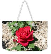 Velvet Red Rose Weekender Tote Bag