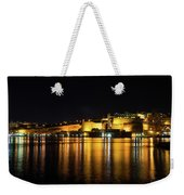 Velvety Reflections - Valletta Grand Harbour At Night Weekender Tote Bag