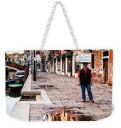 Venetian Baker, Reflection, Rain Puddle Weekender Tote Bag