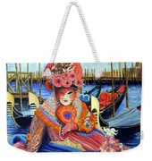 Venetian Carneval Mask With Bird Cage Weekender Tote Bag
