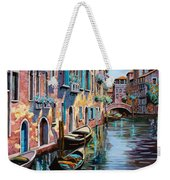 Venezia In Rosa Weekender Tote Bag by Guido Borelli
