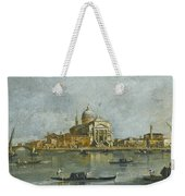 Venice. A View Of The Church Of San Giorgio Maggiore Weekender Tote Bag