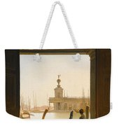 Venice A View Of The Dogana Seen Through A Large Doorway Weekender Tote Bag