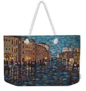 Venice At Night Weekender Tote Bag